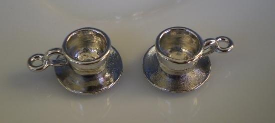 4 Mini Tazzine in Argento Tibetano