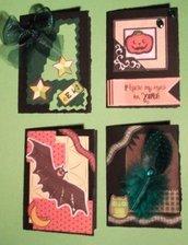 Bigliettini per Halloween^^ - lotto (4pz)