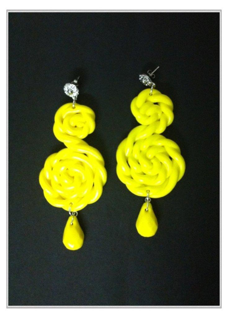 orecchini fimo lemon