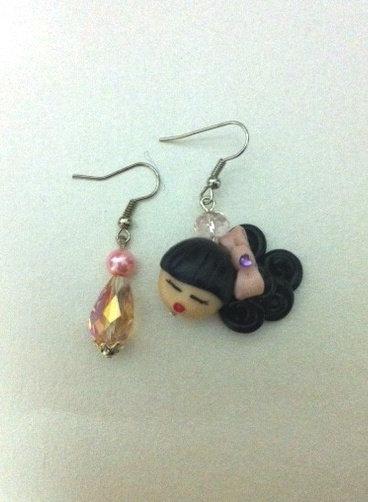 orecchini fimo bambolina