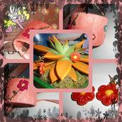orecchini fiore+ bracciale bangle