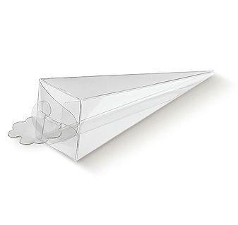Cono trasparente Portariso / Portaconfetti