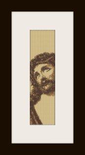 PDF schema bracciale Volto Santo1 in stitch peyote pattern - solo per uso personale