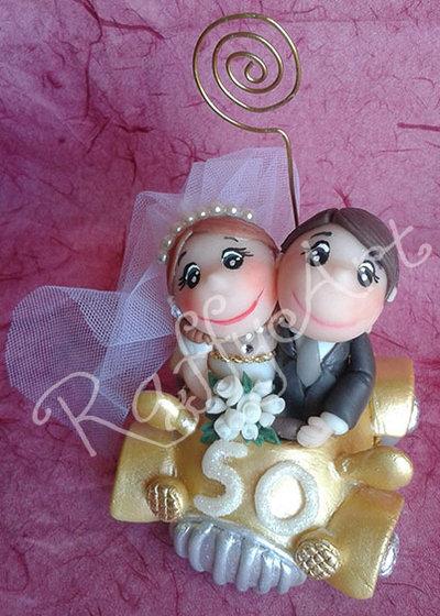 """Cake topper per 50 anni di matrimonio """"Coppia d'oro"""" (personalizzabile)"""