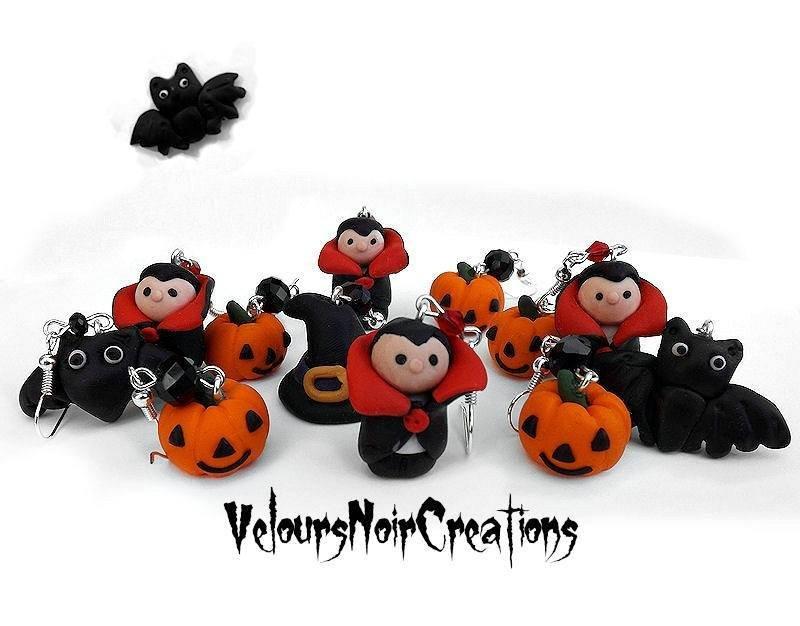 orecchini vampiro dracula hallowen 2013 in fimo