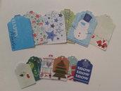 12 tags soggetto natalizio di due dimensioni,lotto n 3 chia