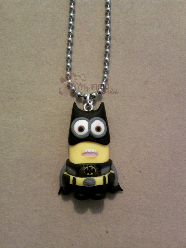 Collana con Minion Batman fimo
