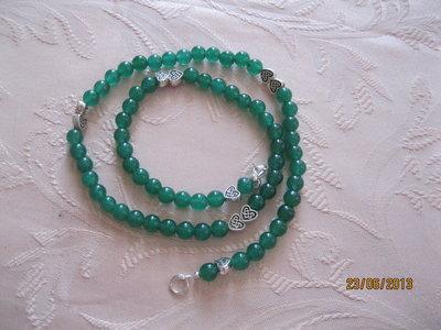 Collana di perline dure  avventurina colore verde