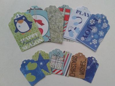 12 tags soggetto natalizio di due dimensioni,lotto n 2