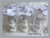BOMBONIERE  25° Anniversario di Matrimonio con Mini Wedding Cake