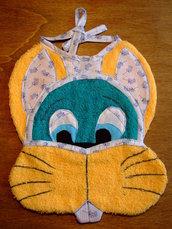 Bavaglione bavaglino bavaglia coniglio 2