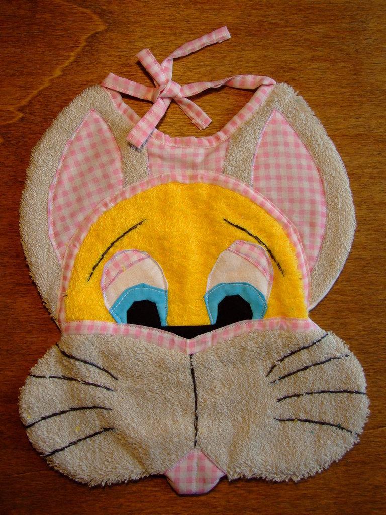 Bavaglione bavaglino bavaglia coniglio 5