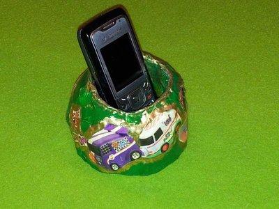 contenitore di carta portacellulare o telecomando