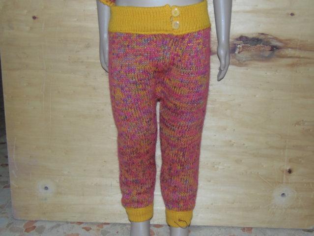 pantaloncini lana per bimba