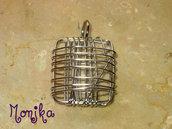 pendente rettangolo wire