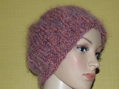 cappello melangiato fuxia