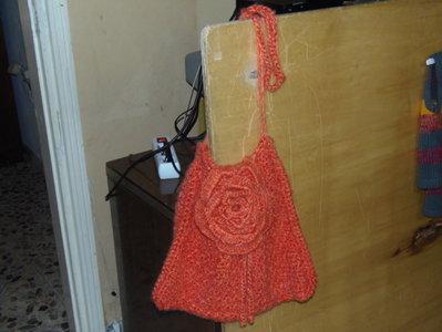 PROMOZIONE borsa di lana con rosa