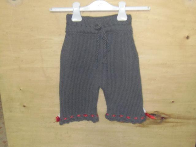 pantaloncini bimba con raso rosso