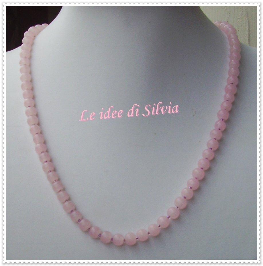 Collana con quarzo rosa