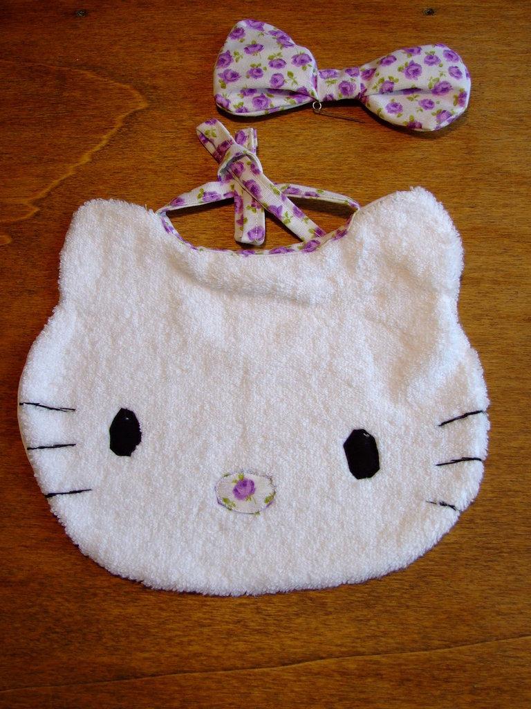 Bavaglione bavaglino bavaglia gattino piccolo 1