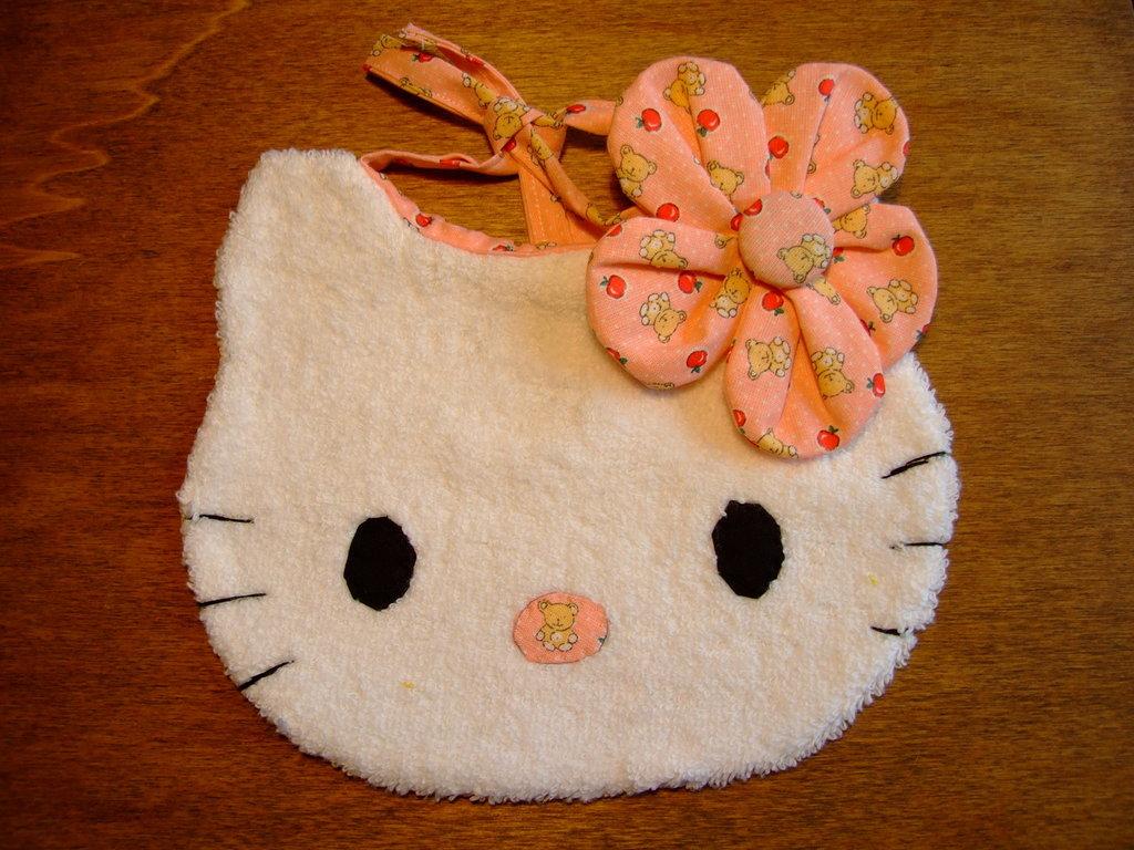 Bavaglione bavaglino bavaglia gattino piccolo 11