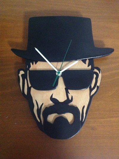 orologio Heisenberg in legno da muro / parete walter white, breaking bad tv show