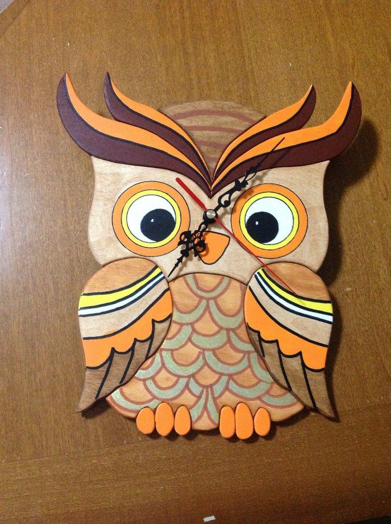 orologi gufi da parete femmina o maschio wall clock owl