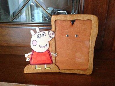 cornici portafoto in legno fatte a mano tartarughe ninja, cars, girasoli, peppa pig, segni zodiacali