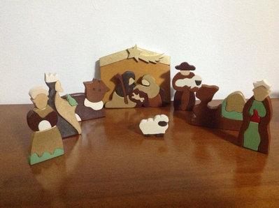 Presepe Argentino in legno dipinto a mano
