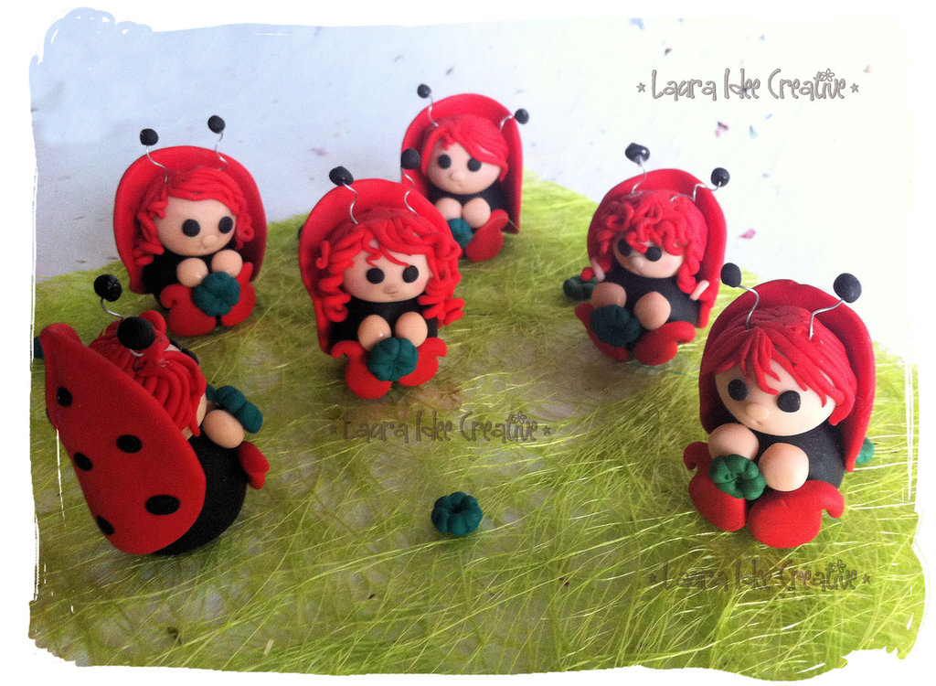 Coccinelle in fimo