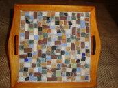 vassoio in mosaico