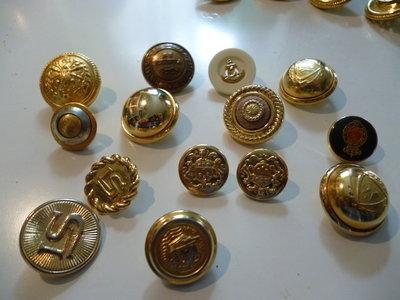 Bottoni vintage oro
