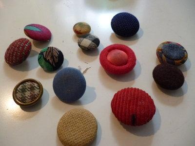 bottoni vintage ricoperti di stoffa