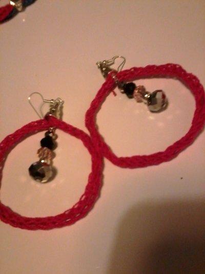 orecchini cerchio tricotin