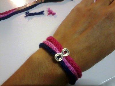 bracciale infinito tricotin