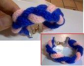 bracciale lana treccia tricotin