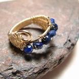 Anello con lapis lazuli in oro 14kt