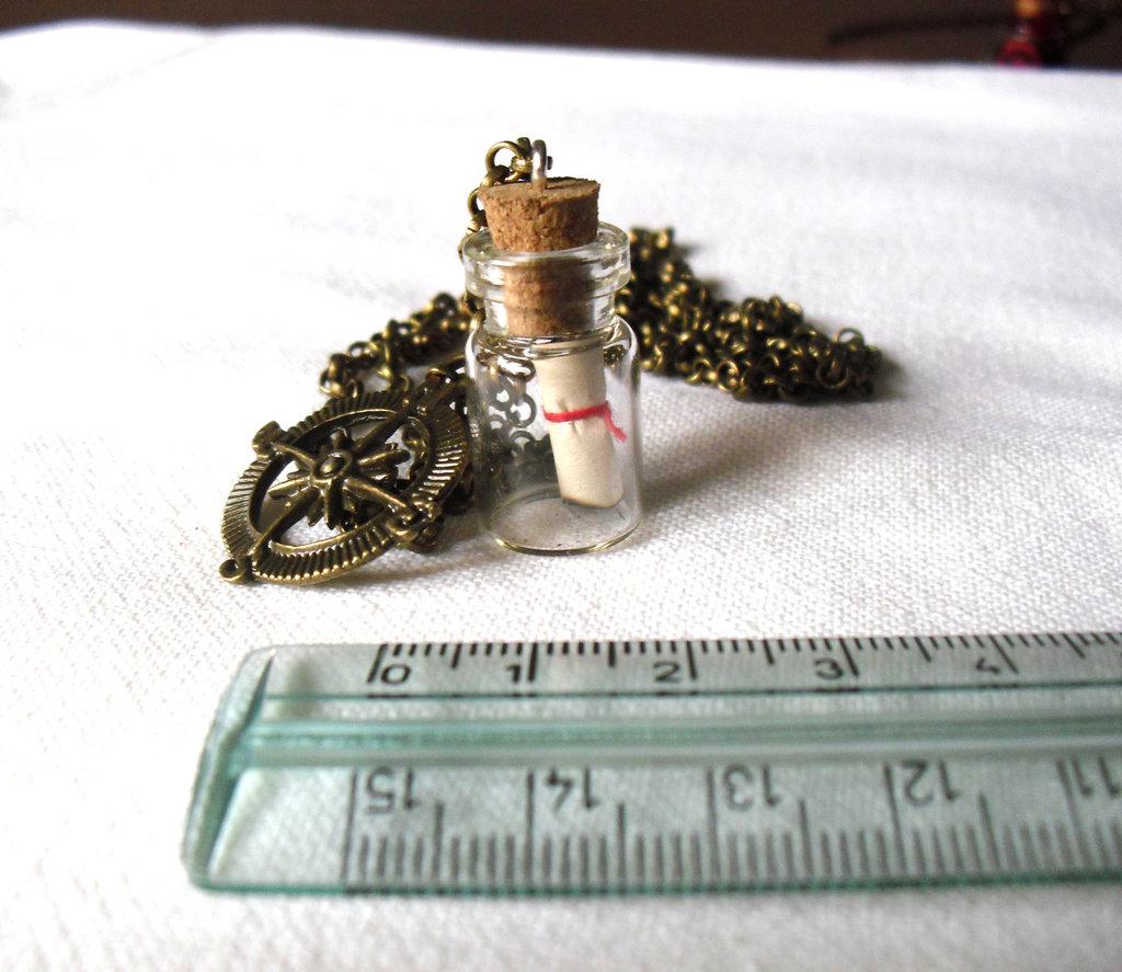 Collana Message in the bottle (il messaggio nella bottiglia)
