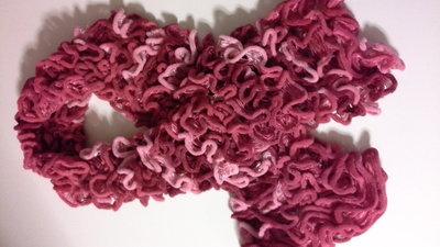 sciarpa sfumata rossa