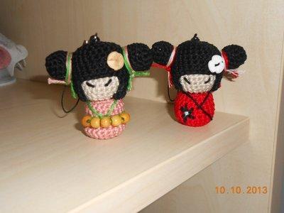 Bambolina Kokeshi del buon auspicio