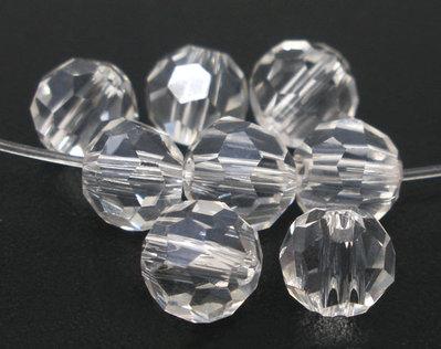 10  Sfere Perle, perline  Sfaccettate in Cristallo Vetro 6mm