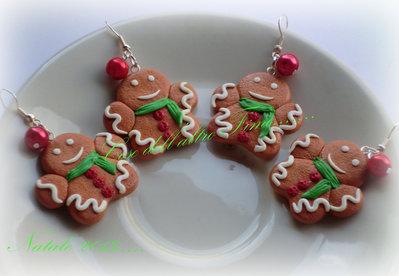 """Orecchini """"Gingerbread"""" piccoli"""