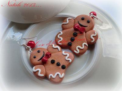 """Orecchini """"Gingerbread"""" grandi"""