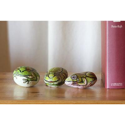 Dipinto su pietra - RANE - Opera d'arte - Idea regalo - oggetto da collezione