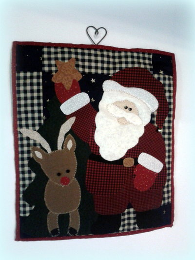 Quilt Babbo Natale