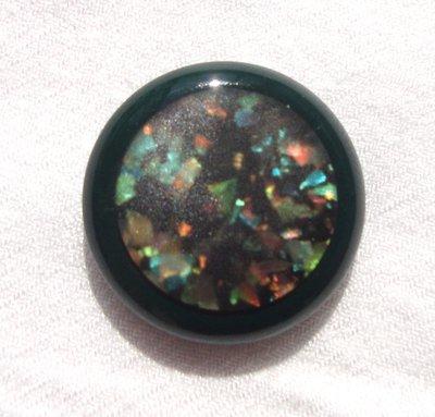 anello bottone verde!!