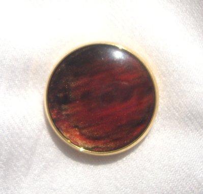 anello bottone rosso e dorato!!