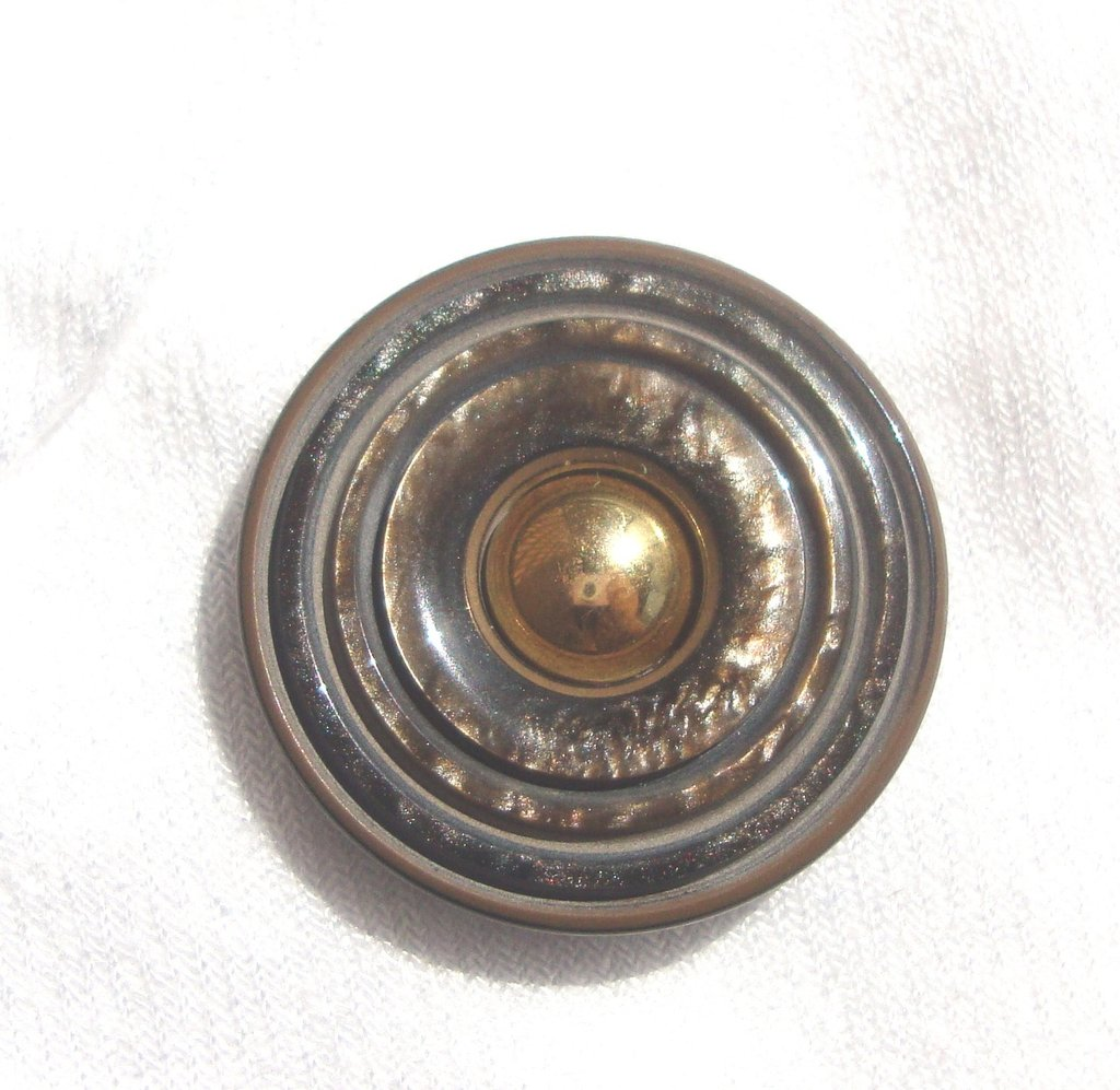 anello bottone marrone e dorato!!!