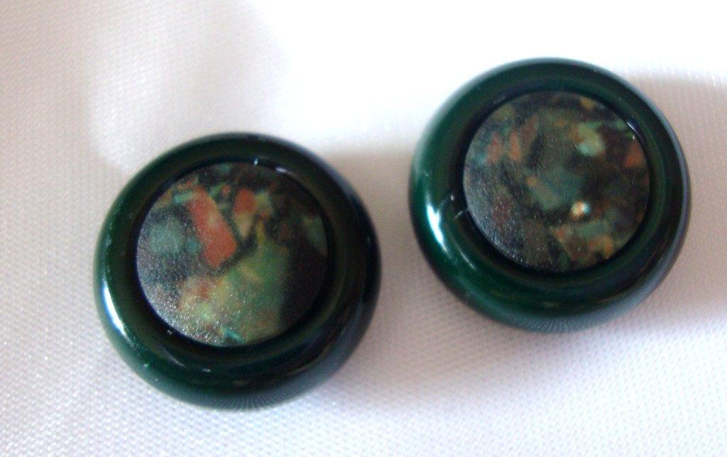 orecchini bottoncino verdi!!!