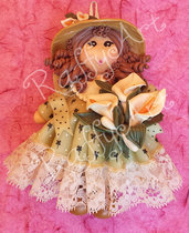 "Bambolina in pasta di mais ""My Country Dolls – Miss Lily"" (abbinabile con Lily Boy)"